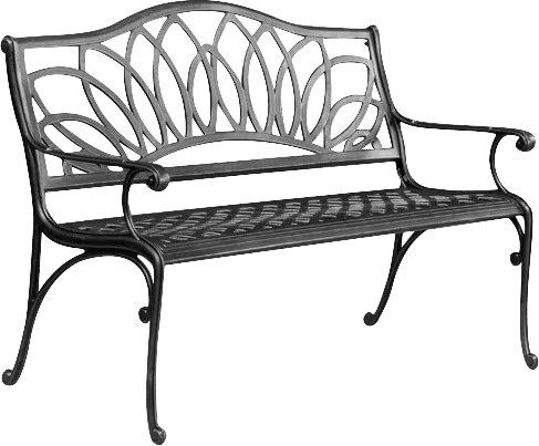 Upper Swainswick Spiral Cast Aluminum Outdoor Bench by Fleur De Lis Living
