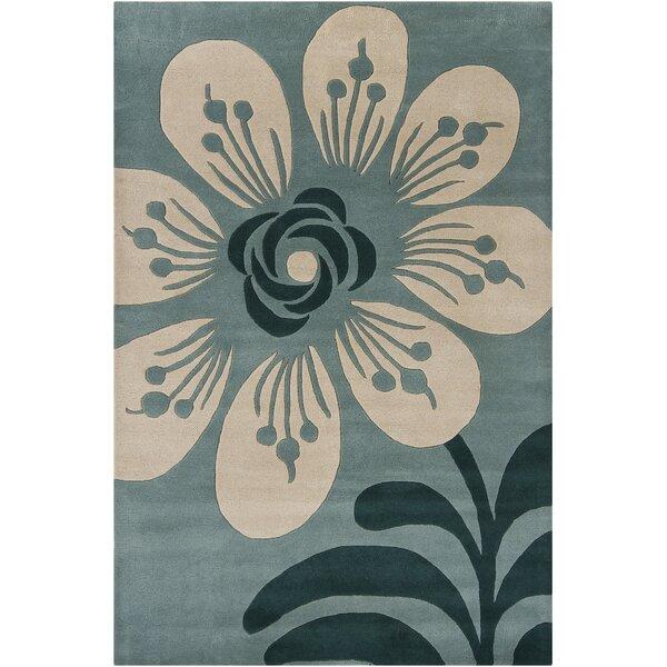 Arae Floral Wool Area Rug by Latitude Run
