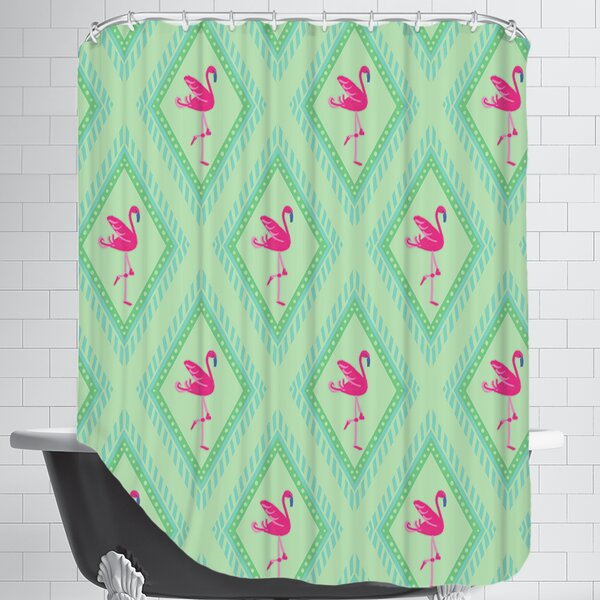 FlamingoGreen Shower Curtain by East Urban Home