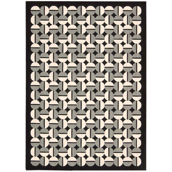 Griffith Black/Grey Geometric Area Rug by Ivy Bronx