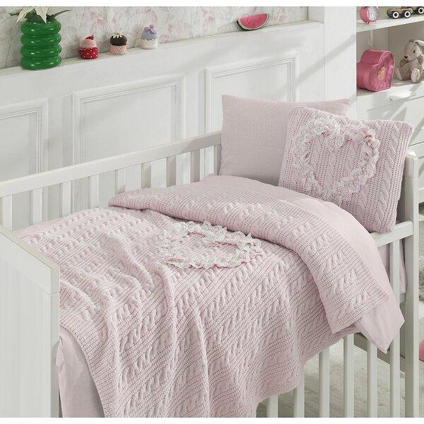 Heart 6 Piece Crib Bedding Set by Nipperland