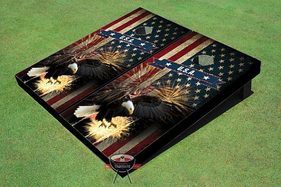 American Bald Eagle Cornhole Board (Set of 2) by All American Tailgate