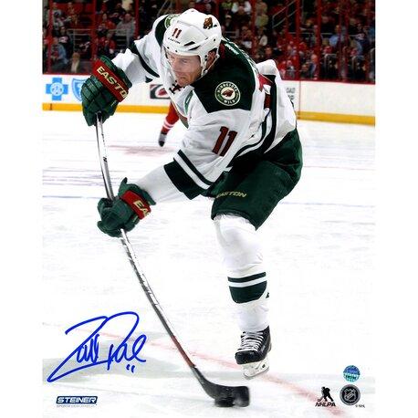 Zach Parise Signed Minnesota Wild Stick Flex Photographic Print by Steiner Sports