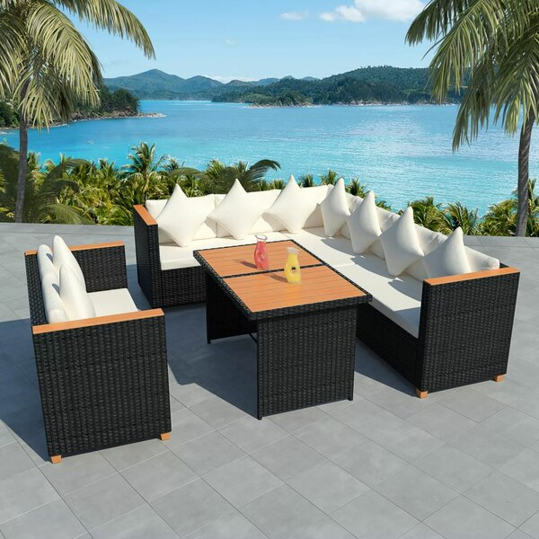 Surbit Outdoor 5 Piece Sectional Seating Group with Cushions by Ivy Bronx