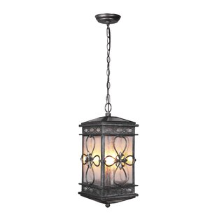 Read Reviews Caddy 3-Light Outdoor Hanging Lantern By August Grove