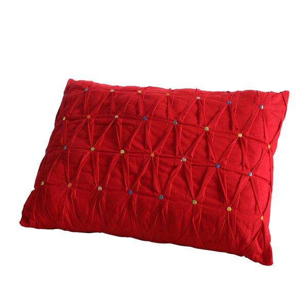 Embroidered Dot Lumbar Pillow by Fiesta