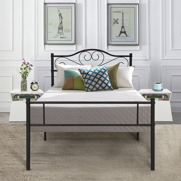 Senecal Living Metal Platform Bed by Fleur De Lis Living