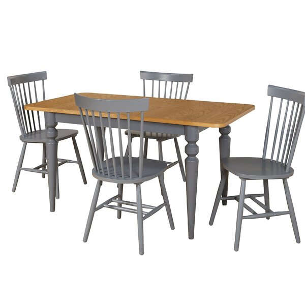 Laurier 5 Piece Solid Wood Dining Set by Gracie Oaks Gracie Oaks
