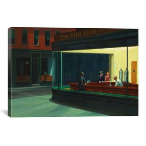 'Nighthawks, 1942' by Edward Hopper Print by East Urban Home