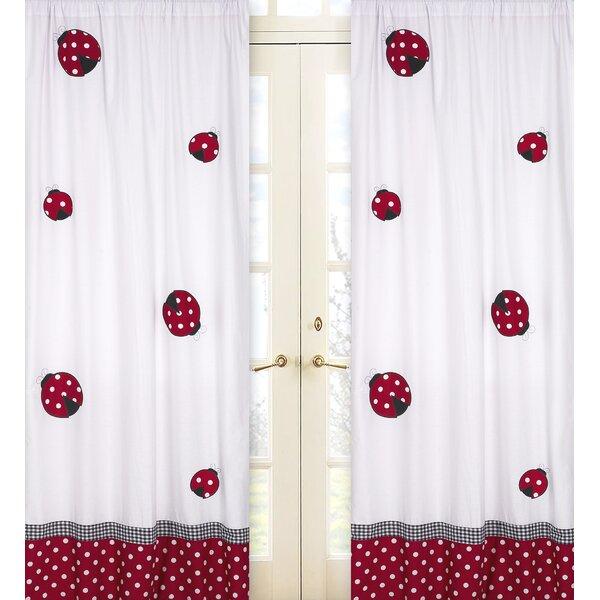 Little Ladybug Wildlife Semi-Sheer Rod Pocket Curtain Panels (Set of 2) by Sweet Jojo Designs