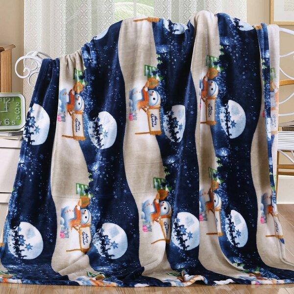 Dawkins Night Snowman Santa Throw by The Holiday Aisle