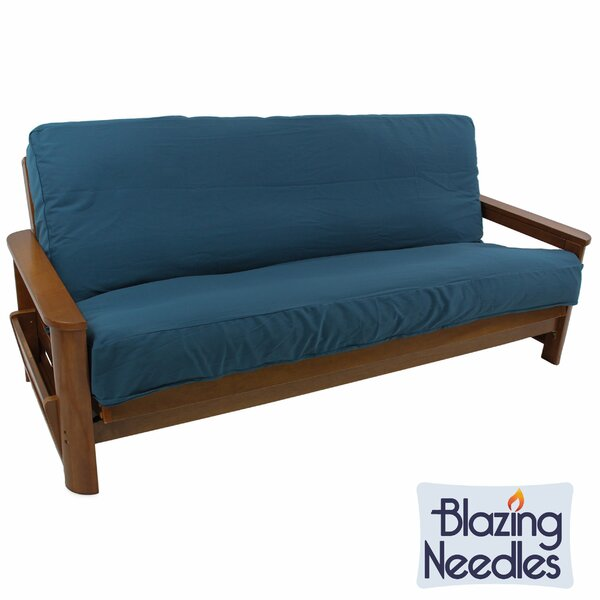 Solid Twill Box Cushion Futon Slipcover by Blazing