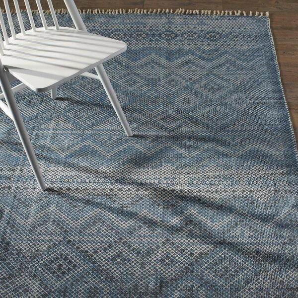 Winona Sky Blue/Navy Area Rug by Bungalow Rose
