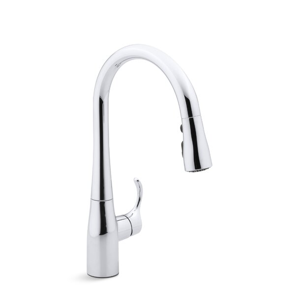 Simplice Single-Hole Kitchen Sink Faucet with 15-3/8 Pull-Down Spout, Docknetik Magnetic Docking System, ProMotion™, MasterClean™ by Kohler