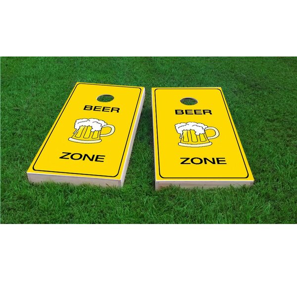 Beer Zone Cornhole Game Set by Custom Cornhole Boards