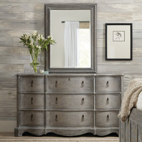 Beaumont 9 Drawer Double Dresser with Mirror by Hooker Furniture