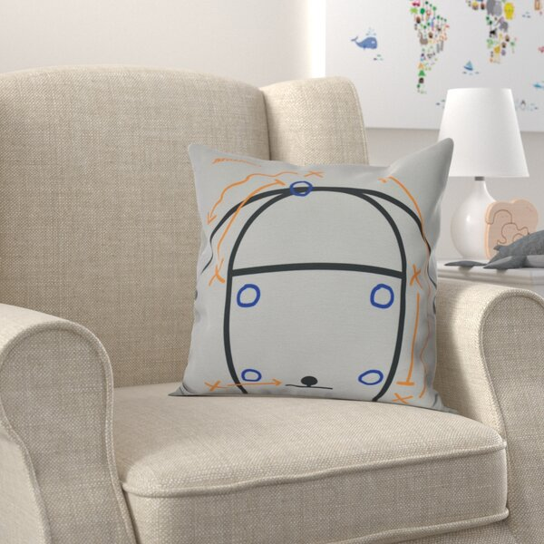 Bauer Motion! Throw Pillow by Zoomie Kids
