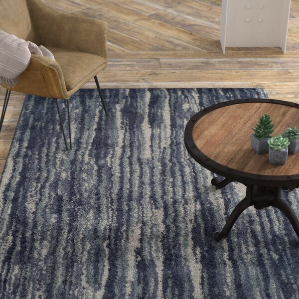 Samella Shag Navy Area Rug by Williston Forge