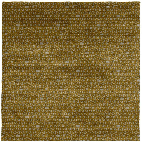 One-of-a-Kind Margit Hand-Knotted Tibetan Brown 8' Square Wool Area Rug
