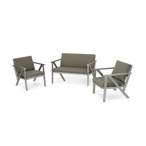 Burien 3 Piece Sofa Seating Group by Union Rustic