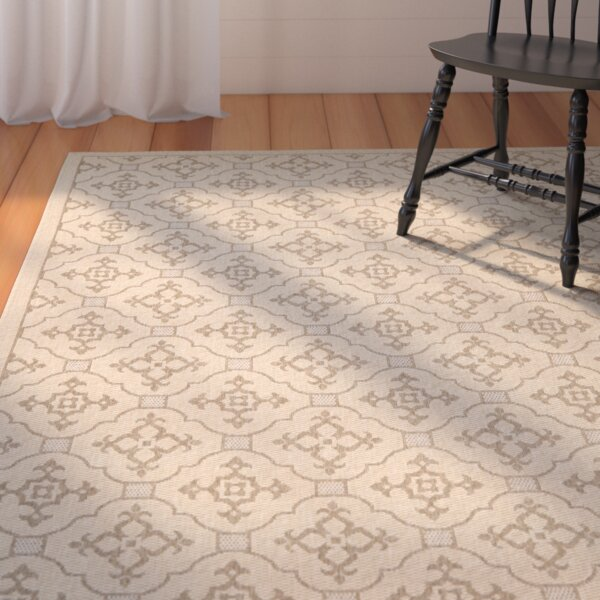 Laurel Creme/Brown Indoor/Outdoor Rug by August Grove