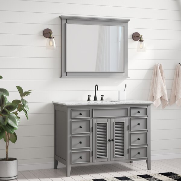 Grovetown 49 Single Bathroom Vanity Set with Mirror by Laurel Foundry Modern Farmhouse