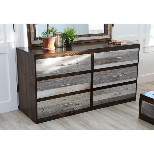 Frese 6 Drawer Double Dresser With Mirror By Union Rustic by Union Rustic Herry Up