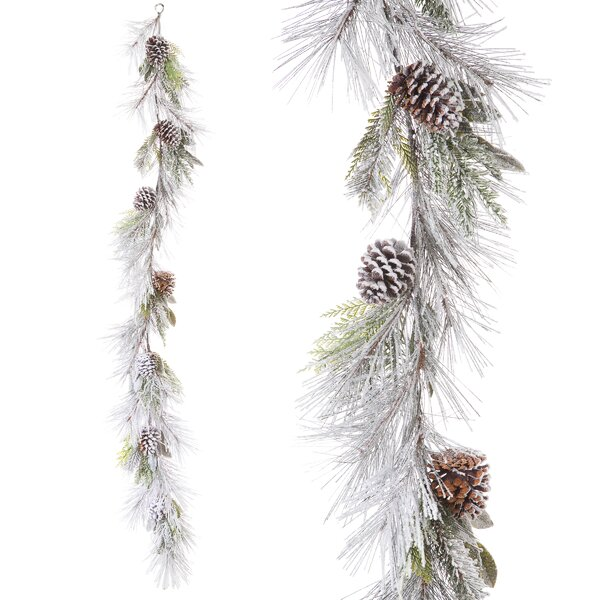 Frosted Sugar Pine Holiday Garland by The Holiday Aisle