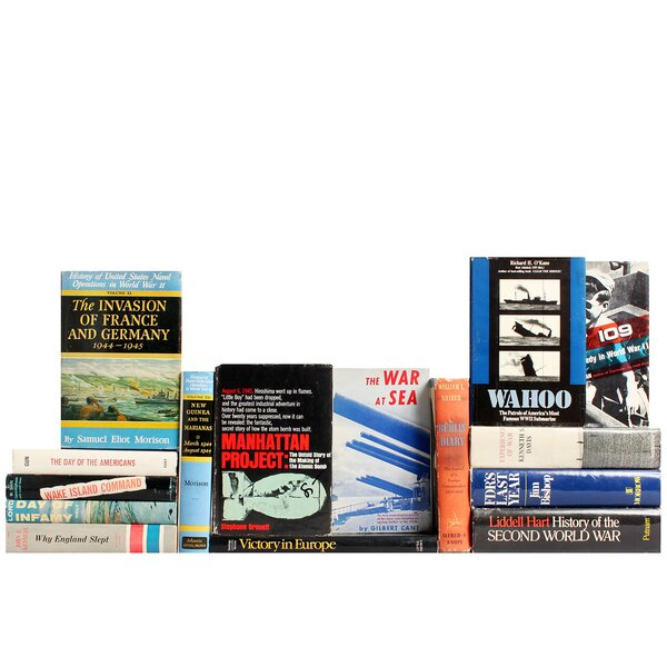 Authentic Decorative Books - Custom Set World War II Selections, Set of 15 by Booth & Williams