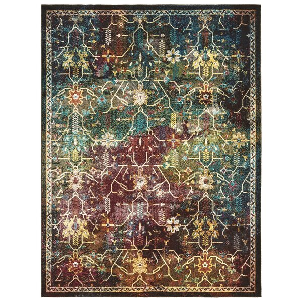 United Weavers Bohemian Montego Red/Aqua Area Rug by Panama Jack Home
