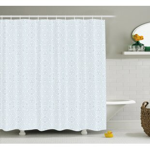 Reviews Olmsted Vintage Ornamental Decorative Flower Shaped Celtic Forms With Bent Lines Image Shower Curtain ByIvy Bronx