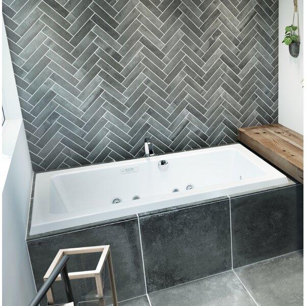 Sia Illuma Right-Hand 66 L x 36 W Drop In Whirlpool Bathtub by Jacuzzi®