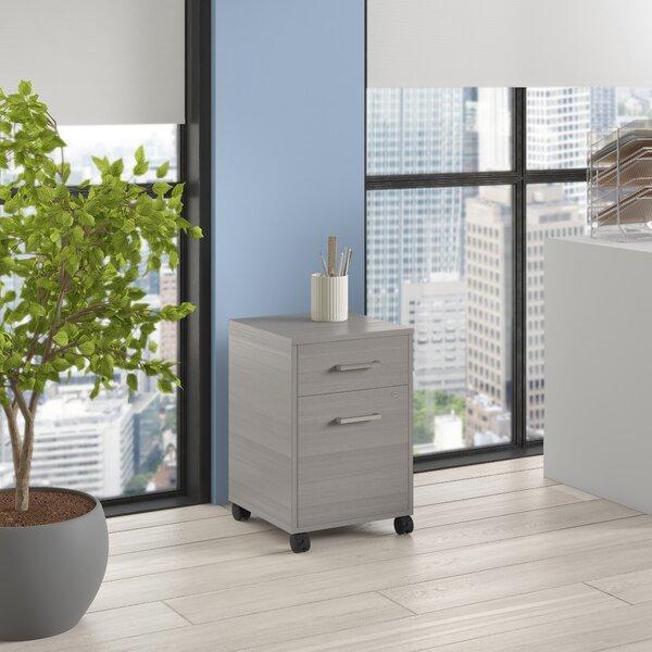 Linea Italia Urban Pedestal 2-Drawer Mobile Vertical Filing Cabinet