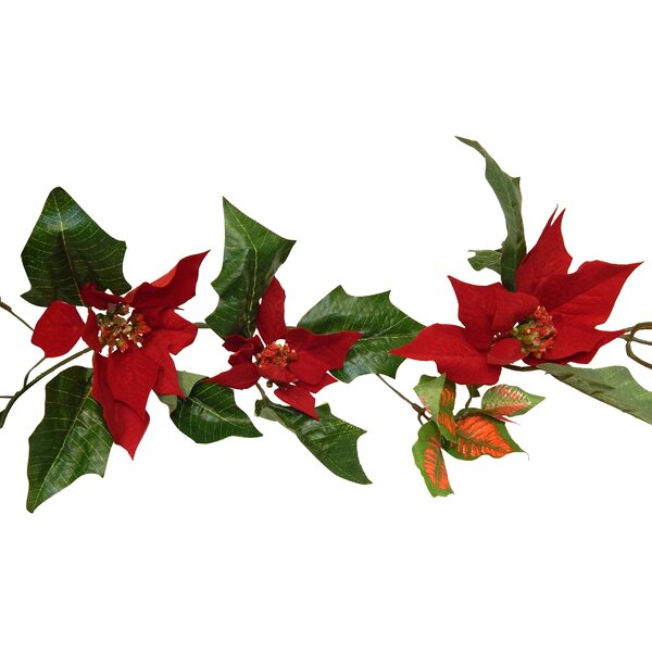 Velvet Poinsettia Centerpiece (Set of 2) by The Holiday Aisle