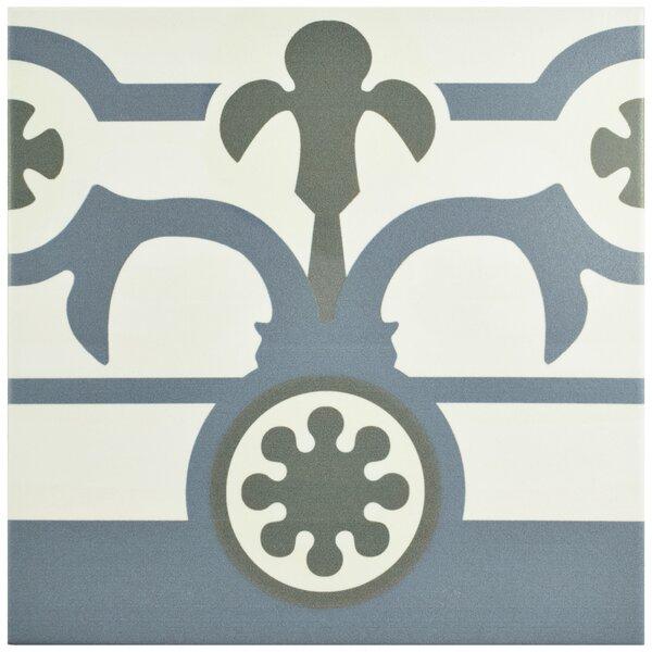 Hydraulic 9.75 x 9.75 Porcelain Field Tile in Gray/Blue by EliteTile