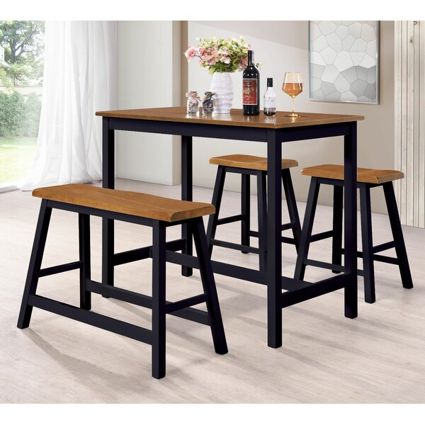 Lomonaco 4 Piece Pub Table Set by Millwood Pines