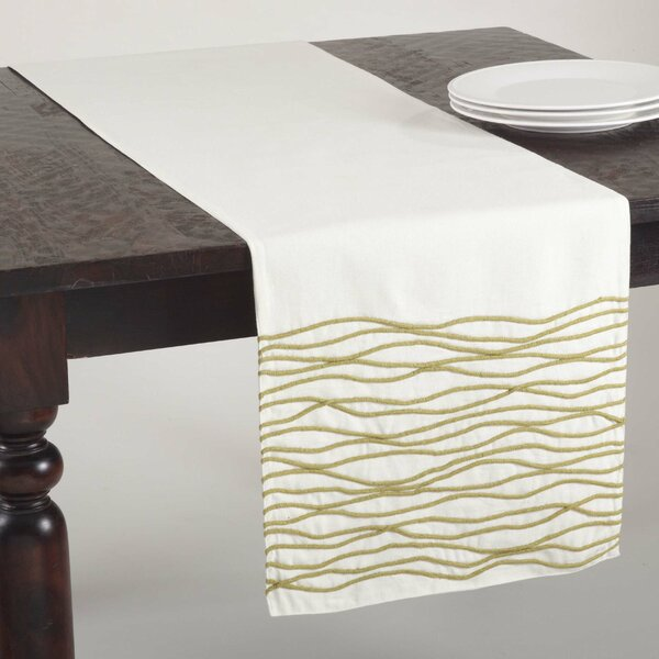 Wavy Line Design Table Runner by Saro