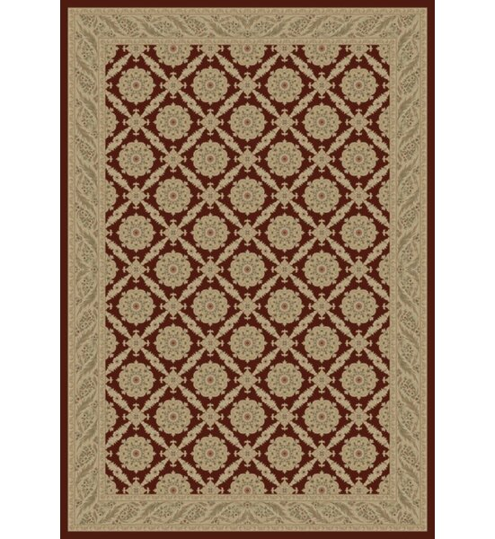 Red Aubusson Area Rug by The Conestoga Trading Co.