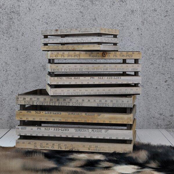 3-Piece Pinewood Planter Box Set by A&B Home