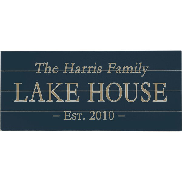 Personalized Lake House Textual Art Multi-Piece Image on Wood by Artehouse LLC