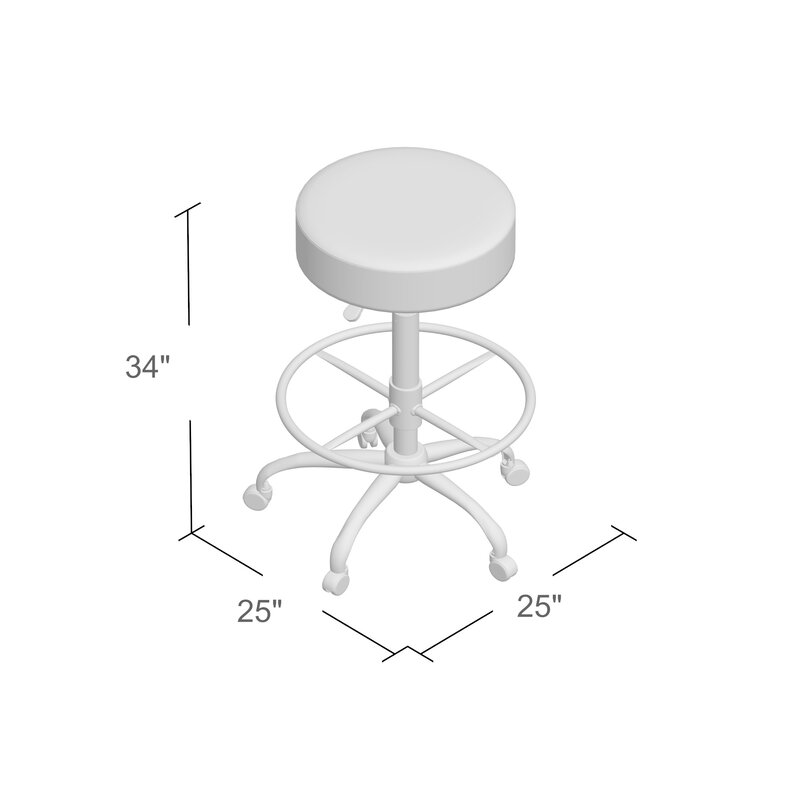 Beautiful Chapman Height Adjustable Drafting Stool With Footring