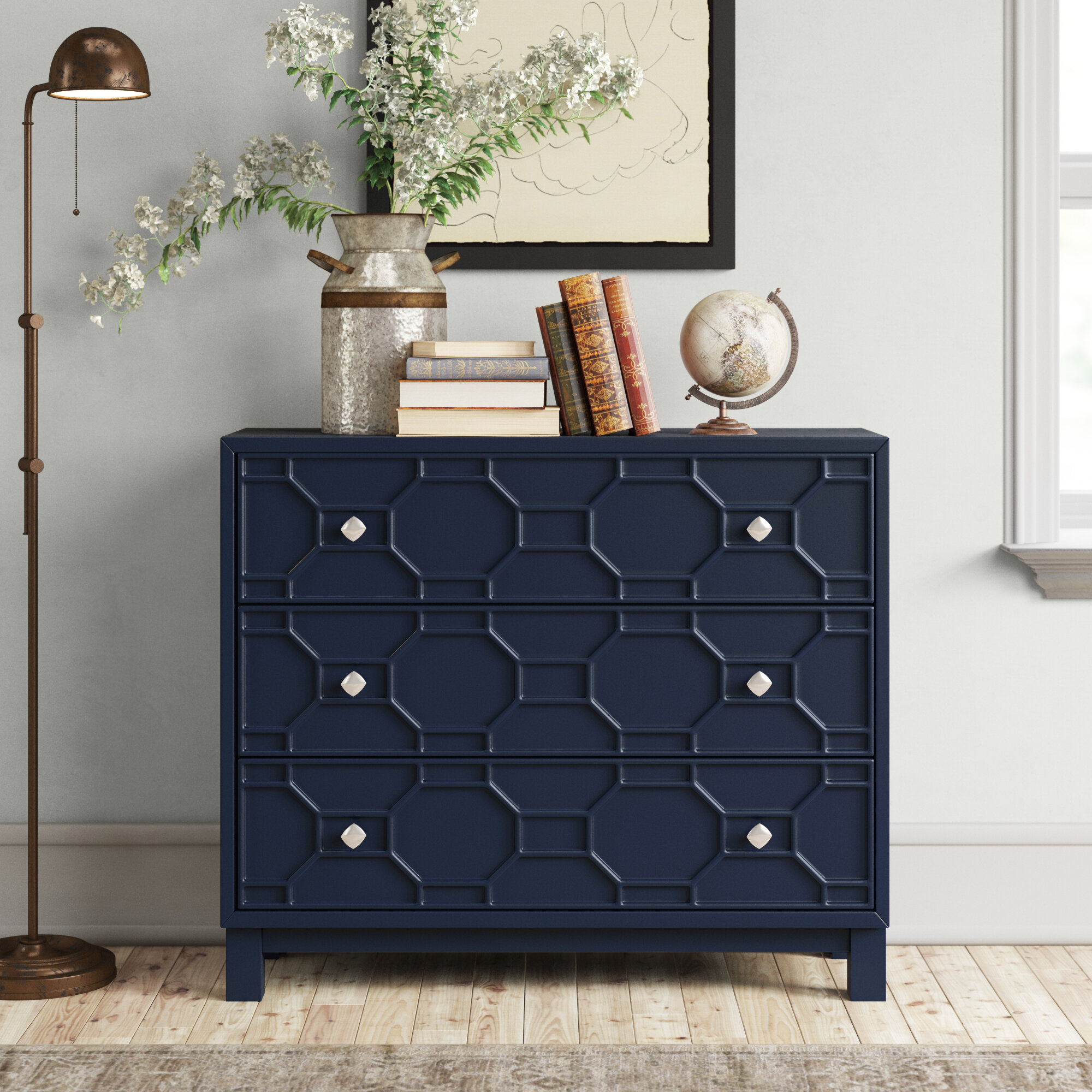 Home Delights Wicker 20 Drawers Baskets Storage Unit Wood Bedroom ...