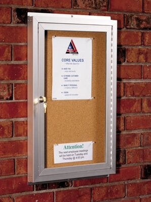 Wall Mounted Enclosed Bulletin Board by Best-Rite®