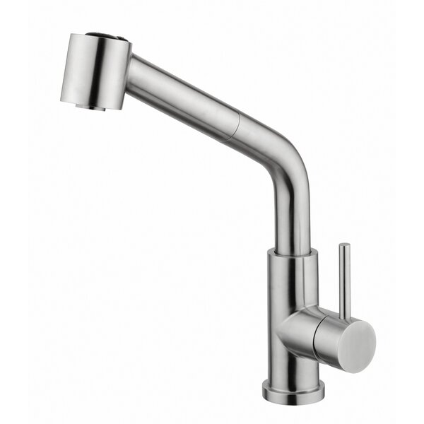 Pull Out Single Handle Kitchen Faucet by Andolini Home & Design