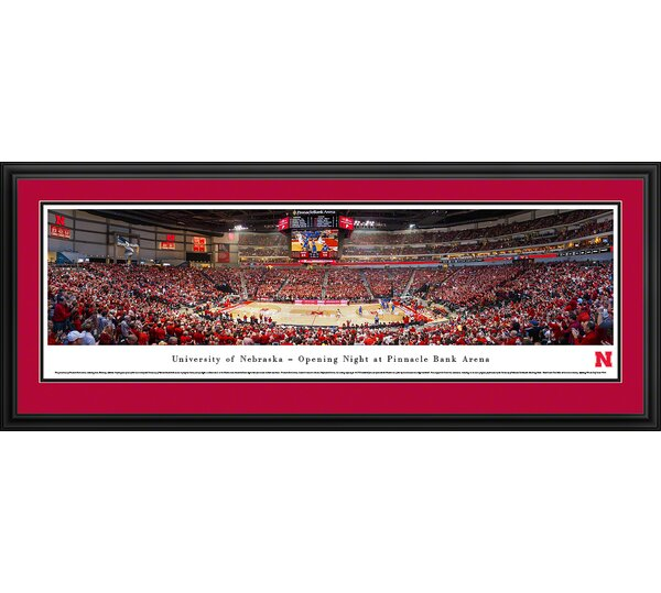 NCAA Nebraska, University of - Basketball by James Blakeway Framed Photographic Print by Blakeway Worldwide Panoramas, Inc
