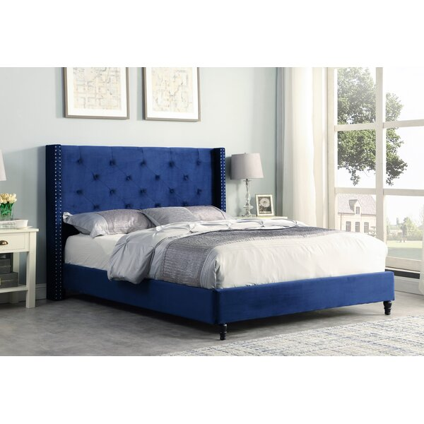 Maryanne Velvet Upholstered Platform Bed by Willa Arlo Interiors