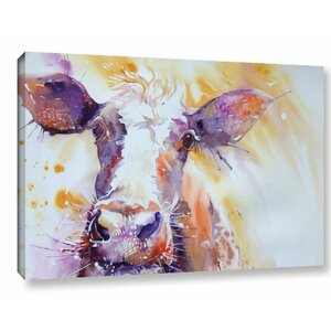 Cow 17 Painting Print on Wrapped Canvas by Latitude Run