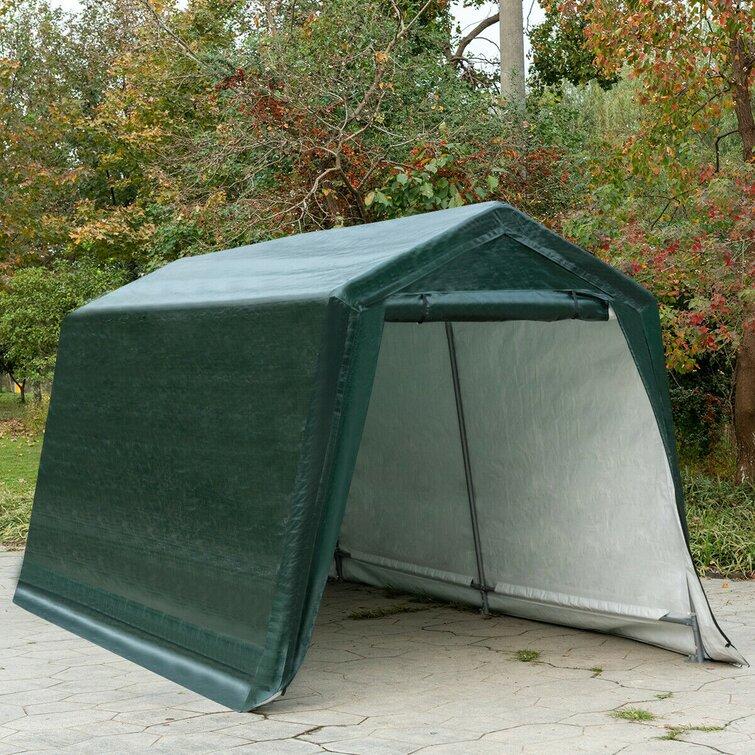 Costway Patio Carport Storage Shed Car Canopy 2 Person Tent Wayfair