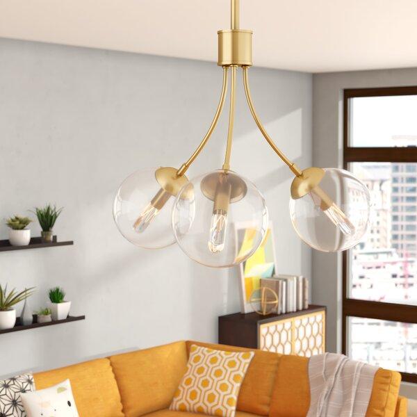 3-Light Sputnik Chandelier by Langley Street