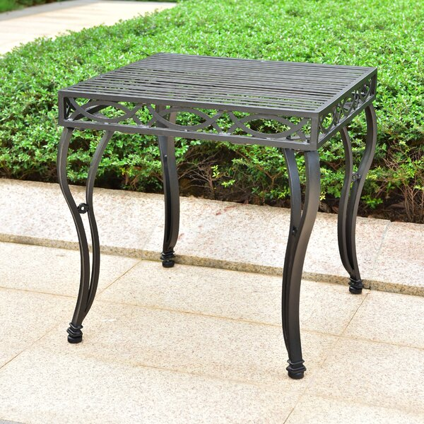 Oak Bluffs Metal Side Table by Fleur De Lis Living